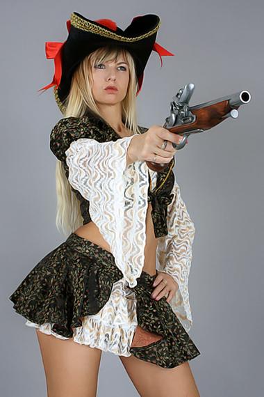 Stripperin als Piratin buchen - Chantal-Strip.com