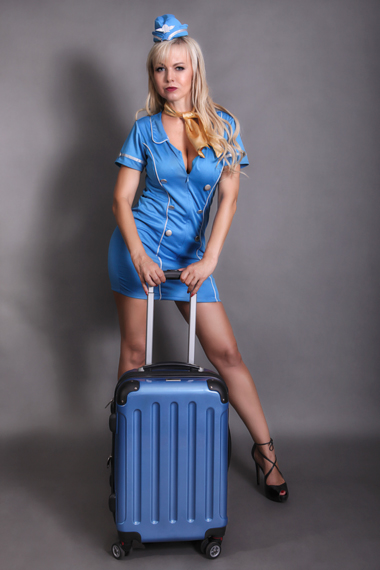Stripperin als Stewardess buchen - Chantal-Strip.com