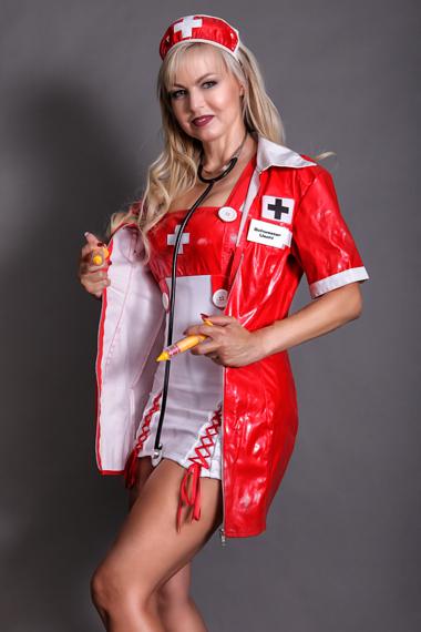 Partystrip als Krankenschwester - Chantal-Strip.com